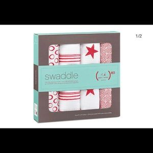 Aden & Anais (RED) swaddle blankets